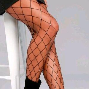 95a678ae82f59 plus size goddess Intimates & Sleepwear   Plus Size Stripe Fishnet ...